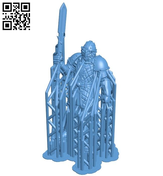 Elite Guard B008898 file obj free download 3D Model for CNC and 3d printer