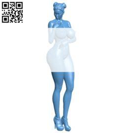 Fantasy warrior – women B008649 file stl free download 3D Model for CNC and 3d printer