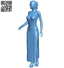 Female B008908 file obj free download 3D Model for CNC and 3d printer