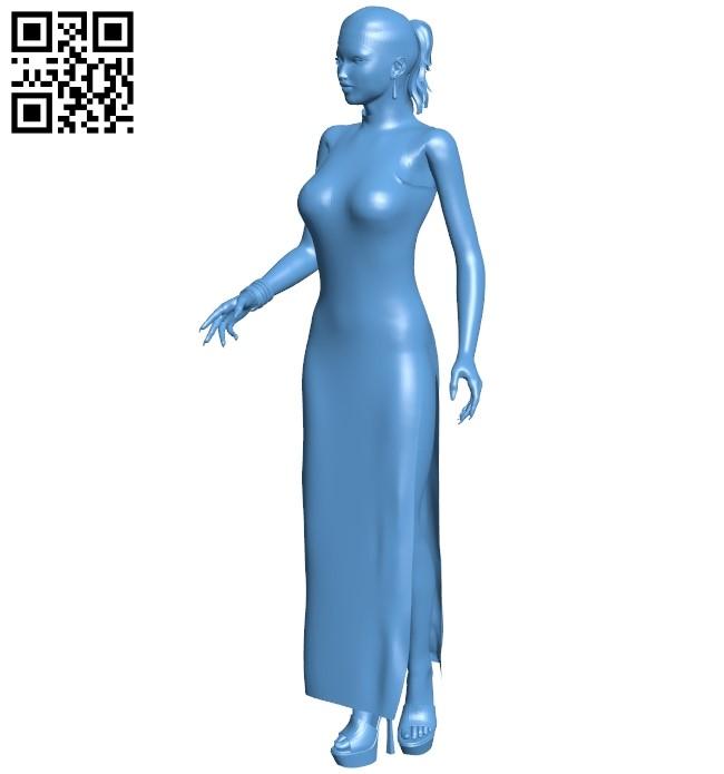 Female B008908 file obj free download 3D Model for CNC and 3d printer