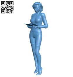 Female accountant B008678 file stl free download 3D Model for CNC and 3d printer
