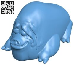 Flexi Pig stress ball B008771 file obj free download 3D Model for CNC and 3d printer