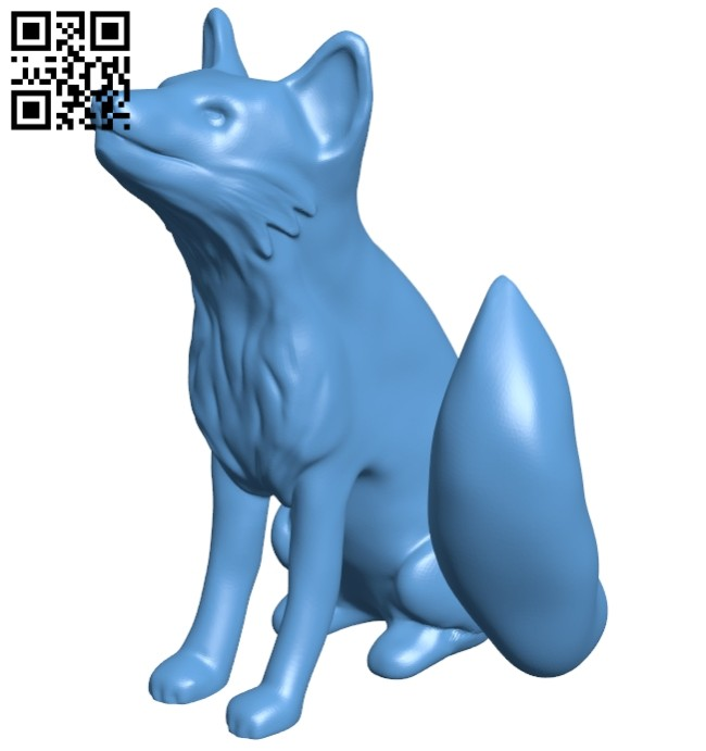 Fox B008797 file obj free download 3D Model for CNC and 3d printer