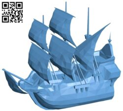 Galleon – ship B008660 file stl free download 3D Model for CNC and 3d printer
