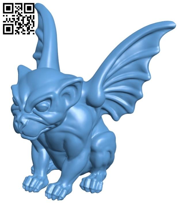Gargoyle figurine B008892 file obj free download 3D Model for CNC and 3d printer