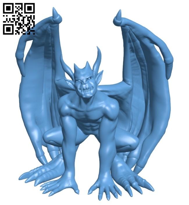Gargoyle update - devil B008812 file obj free download 3D Model for CNC and 3d printer