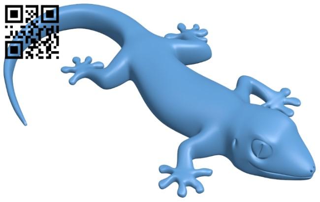 Gecko figurine B008912 file obj free download 3D Model for CNC and 3d printer