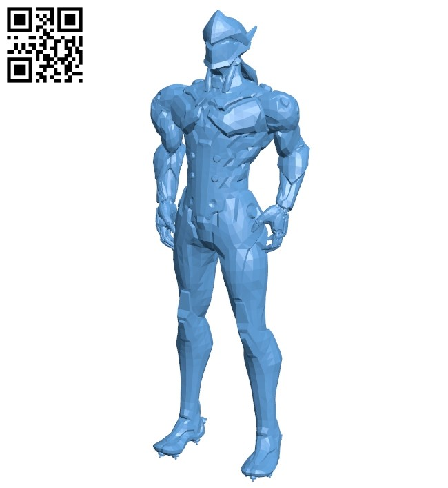 Genji - ninja B008824 file obj free download 3D Model for CNC and 3d printer