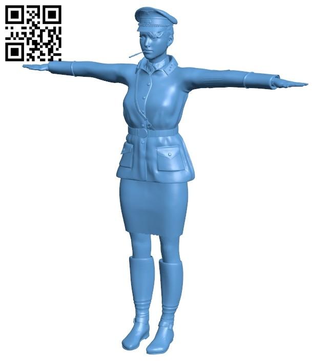 German Girl B008688 file stl free download 3D Model for CNC and 3d printer