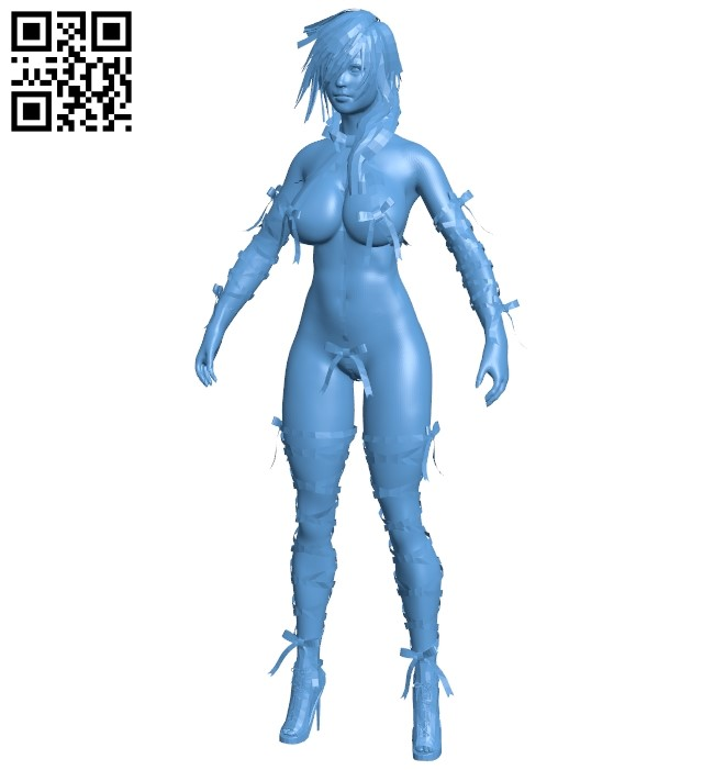 Girl and tape B0088989 file obj free download 3D Model for CNC and 3d printer