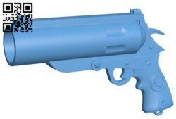 Hellboy gun – Good Samaritan and Classic Revolver B008821 file obj free download 3D Model for CNC and 3d printer