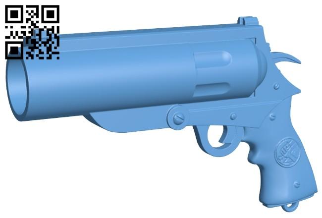 Hellboy gun - Good Samaritan and Classic Revolver B008821 file obj free download 3D Model for CNC and 3d printer