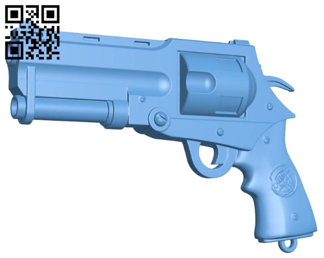 Hellboy gun - Good Samaritan and Classic Revolver B008822 file obj free download 3D Model for CNC and 3d printer