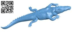 Hidden alligator – crocodile B008712 file obj free download 3D Model for CNC and 3d printer