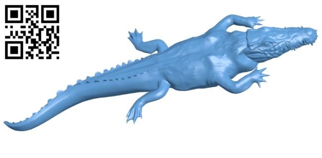 Hidden alligator - crocodile B008712 file obj free download 3D Model for CNC and 3d printer
