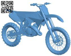Honda moto CRF B008709 file obj free download 3D Model for CNC and 3d printer
