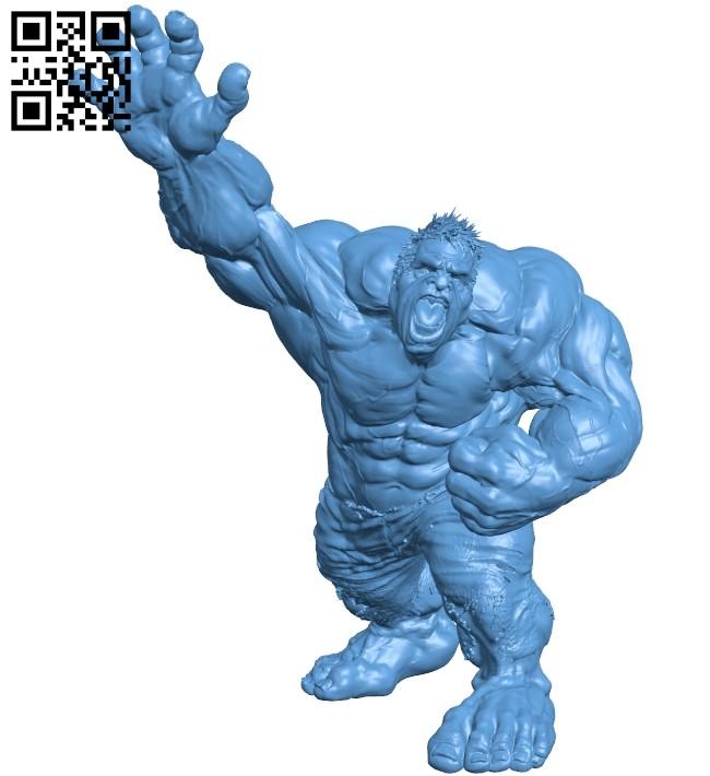 Hulk nobase - superhero B008743 file obj free download 3D Model for CNC and 3d printer