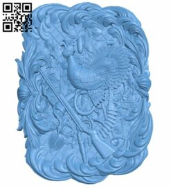 Hunter painting A005823 download free stl files 3d model for CNC wood carving