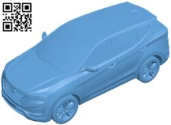 Hyundai santa car B008878 file obj free download 3D Model for CNC and 3d printer