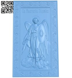 Icon Archangel Michael A005699 download free stl files 3d model for CNC wood carving