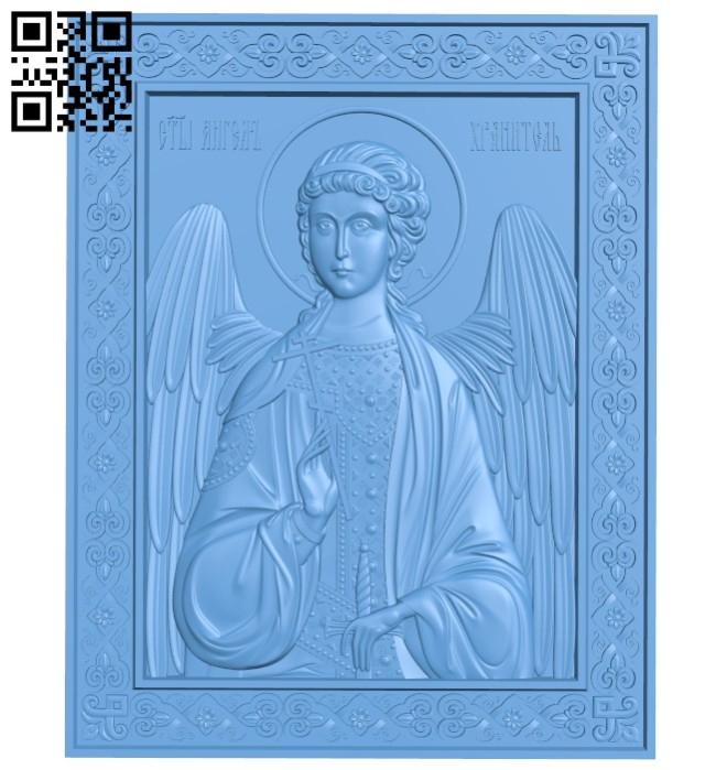 Icon Guardian Angel A005690 download free stl files 3d model for CNC wood carving