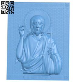 Icon John the Baptist A005705 download free stl files 3d model for CNC wood carving