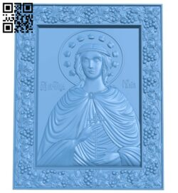 Icon Saint Julia A005702 download free stl files 3d model for CNC wood carving