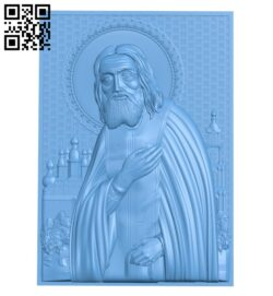 Icon Seraphim of Sarov A005700 download free stl files 3d model for CNC wood carving