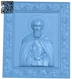 Icon Venerable Sergius of Radonezh A005842 download free stl files 3d model for CNC wood carving