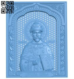Icon of Emperor Nicholas II A005849 download free stl files 3d model for CNC wood carving