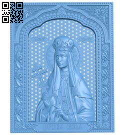 Icon of Empress Alexandra A005848 download free stl files 3d model for CNC wood carving