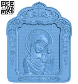 Icon of Our Lady of Kazan A005695 download free stl files 3d model for CNC wood carving