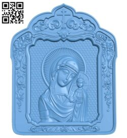 Icon of Our Lady of Kazan A005704 download free stl files 3d model for CNC wood carving