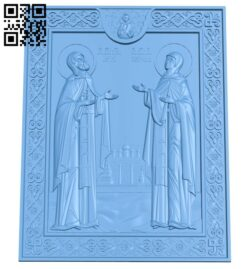 Icon of Peter and Fevronya A005698 download free stl files 3d model for CNC wood carving