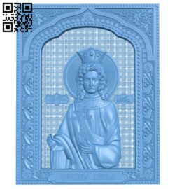 Icon of Princess Anastasia A005844 download free stl files 3d model for CNC wood carving
