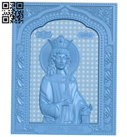 Icon of Princess Mary A005845 download free stl files 3d model for CNC wood carving