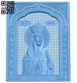 Icon of Princess Olga A005846 download free stl files 3d model for CNC wood carving