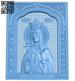 Icon of Princess Tatiana A005847 download free stl files 3d model for CNC wood carving
