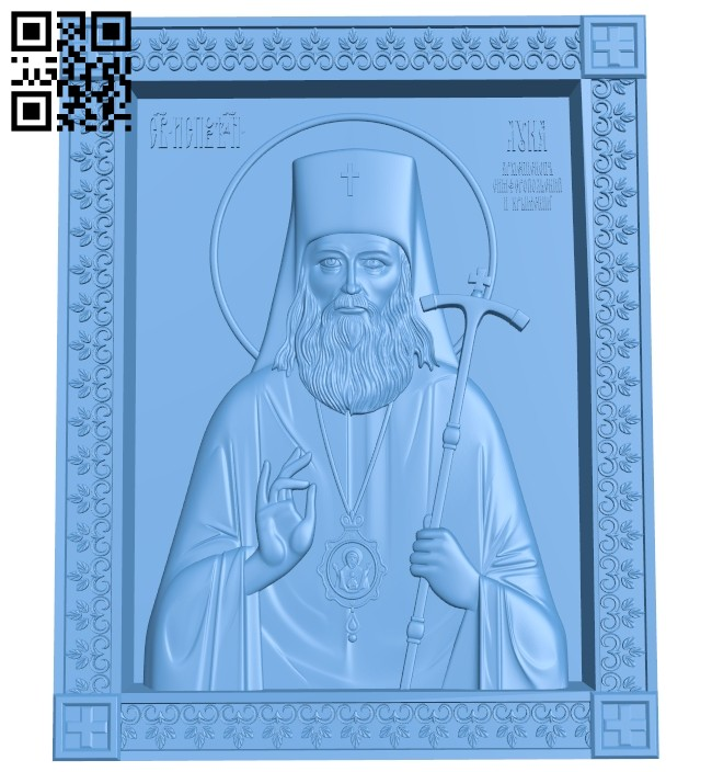 Icon of Saint Luke A005703 download free stl files 3d model for CNC wood carving