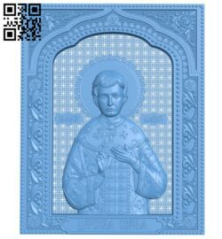 Icon of Tsarevich Alexei A005843 download free stl files 3d model for CNC wood carving