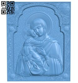 Icon of the Vladimir Mother of God A005840 download free stl files 3d model for CNC wood carving
