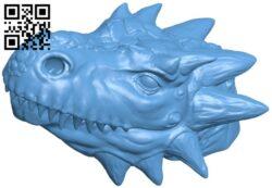 Incense stick burner – Dragon head B008880 file obj free download 3D Model for CNC and 3d printer