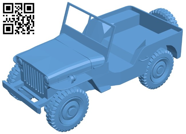 Jeep car B008682 file stl free download 3D Model for CNC and 3d printer