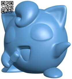 Jigglypuff – Pokemon B008830 file obj free download 3D Model for CNC and 3d printer