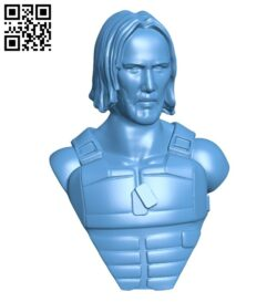 Keanu cyberpunk bust – man B008819 file obj free download 3D Model for CNC and 3d printer