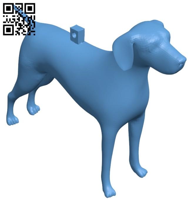 Keychain dog B008816 file obj free download 3D Model for CNC and 3d printer