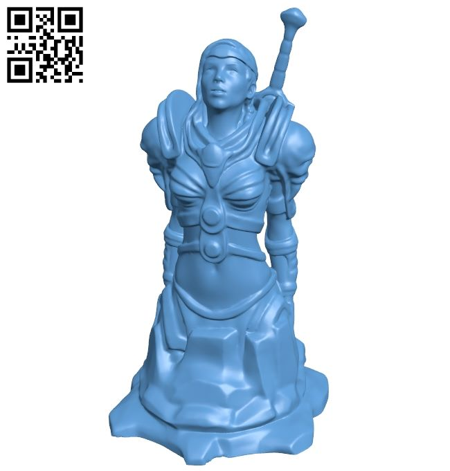 Knight andreas boehler de noinfill - women B008850 file obj free download 3D Model for CNC and 3d printer