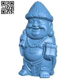 Laughing Buddha B008621 file stl free download 3D Model for CNC and 3d printer