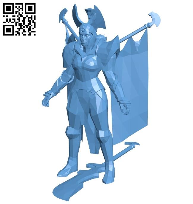 Legion Commander - dota 2 B008658 file stl free download 3D Model for CNC and 3d printer