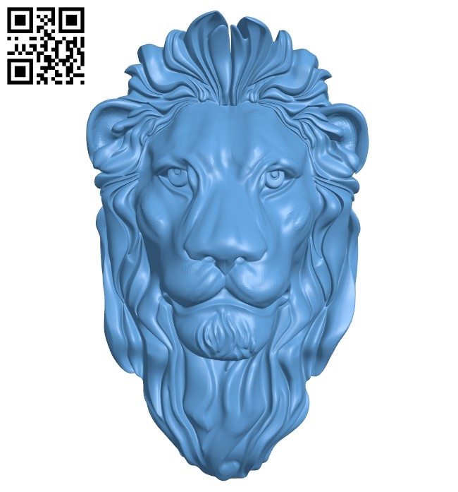 Lion head A005835 download free stl files 3d model for CNC wood carving